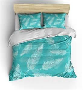 Feather Design Baby Bedding Teal Feather Design Bedding Duvet Setluxe Weight Comforter