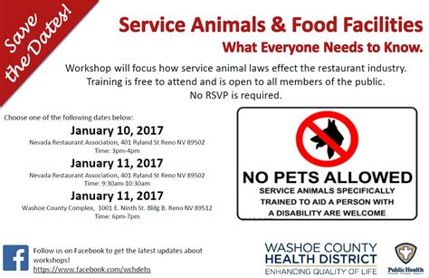 service laws service animals and food facilities