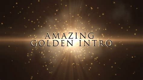 after effects intro templates free after effects intro template golden topfreeintro