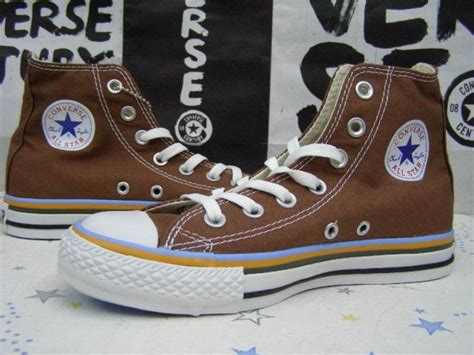 Converse Chuck All High Peached Brown Coklat Original converse chuck all high tops brown white