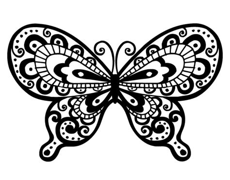 imagenes bonitas para dibujar faciles de mariposas dibujo de mariposa bonita para colorear dibujos net