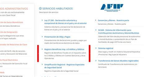 rg 3900 afip registro de beneficios fiscales en el habilitado registro beneficios imp s cr 233 ditos y d 233 bitos
