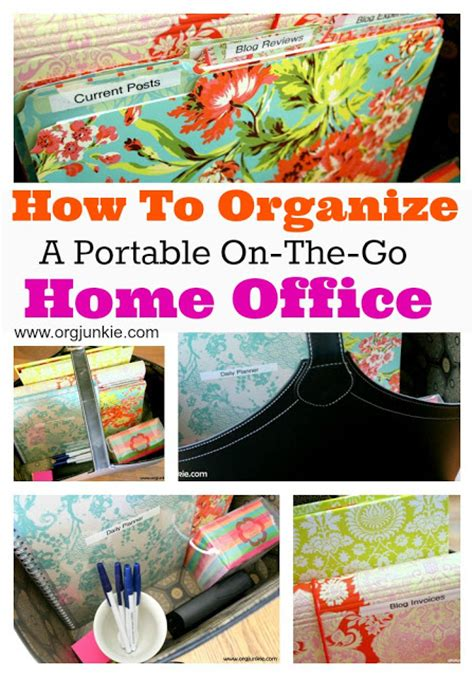 how to organize home office how to organize a portable on the go home office