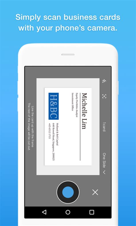 Business Card Organizer App