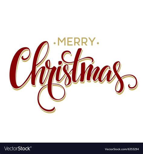 merry christmas lettering design royalty  vector image