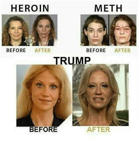 Before And After Meme - meth heroin before after before after trump after before