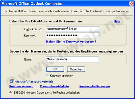si鑒e microsoft outlook mit hotmail einrichten outlook connector