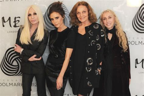 Donatella Versace To Design The Next Spice Tour Wardrobes Catwalk by Beckham Cements Place Alongside Fashion S