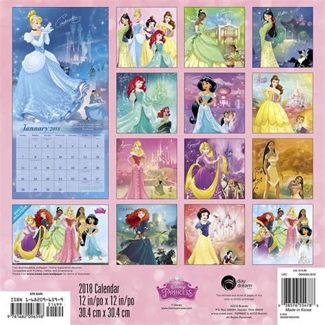 printable calendar 2018 disney disney princess 2018 calendar printable calendar 2018