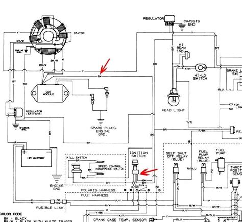 magnetic switch wiring diagram polaris 500 ho polaris