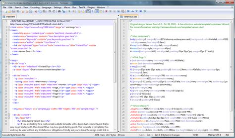 design html website using notepad notepad screenshot andreasviklund com