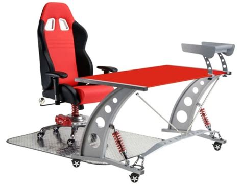 grand prix race chair and desk set for business
