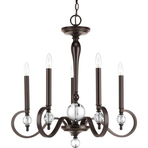 5 light bronze chandelier progress lighting heritage collection 5 light forged