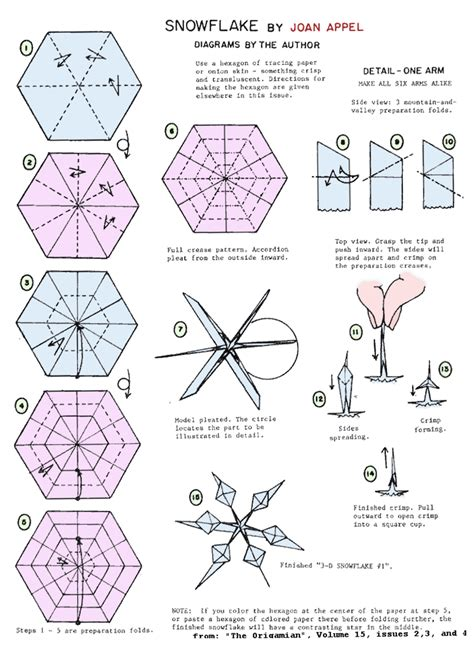 How To Make Snowflake Origami - sci s card snowflakes