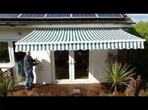 how to put an awning up how to put up an awning youtube