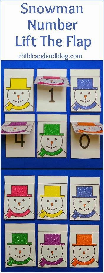 free printable number recognition cards this week s free printable is snowman number lift the flap