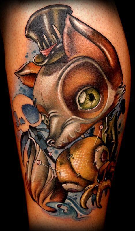 new school fox tattoo voodoo fox tattoo by kelly doty tattoonow
