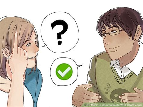 how to a deaf 3 ways to communicate with deaf wikihow