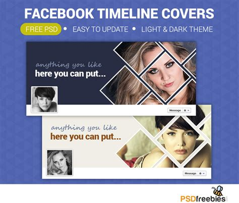 free cover template psd free personal timeline covers free psd