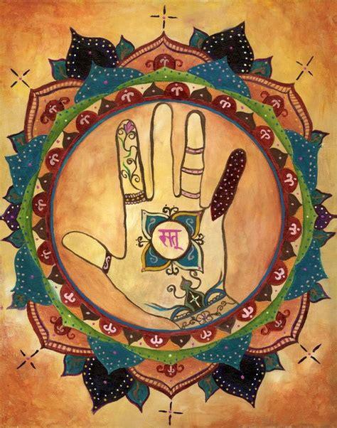 tattoo healing hand hamsa henna art print mandala hand symbol mind body