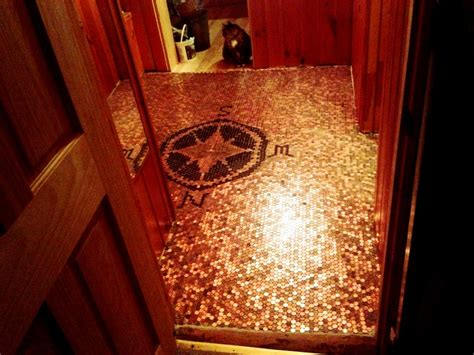 pennies on floor of bathroom 95 best images about artwork using pennies on pinterest