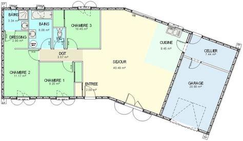plan maison bois plain pied 4 chambres plan maison ossature bois plain pied 4 chambres maison