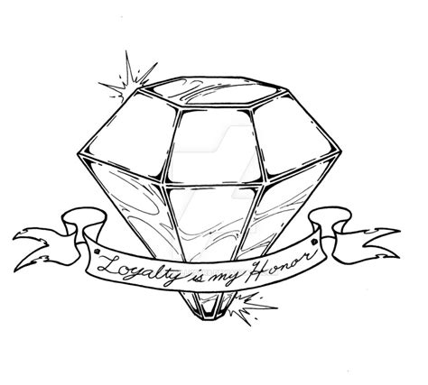 tattoo diamond drawing diamond tattoo by ckirkillustr8 on deviantart