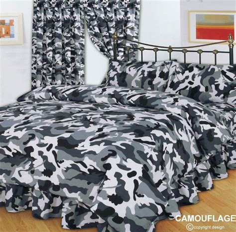 military bedding grey black army military camouflage design reversible