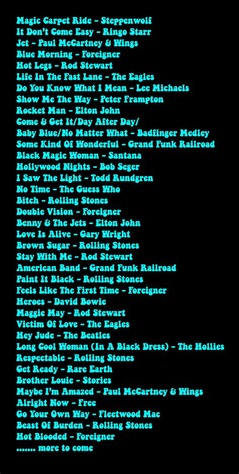 song list 2014 billboard live song list