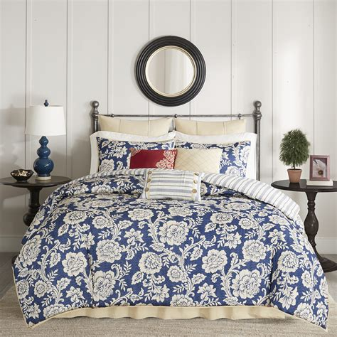 madison park lucy 9 piece cotton twill reversible