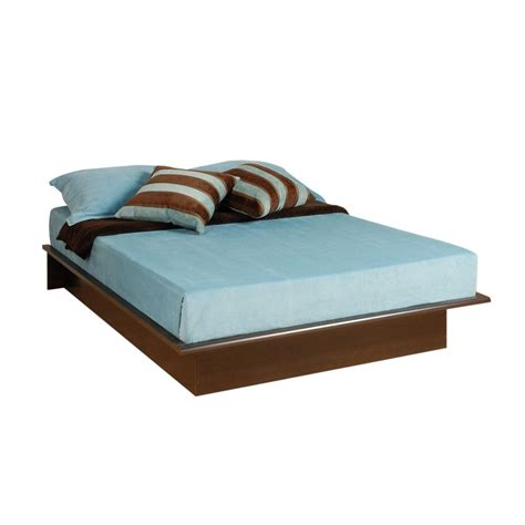home depot bed prepac oak double and full platform bed obd 5475 k the