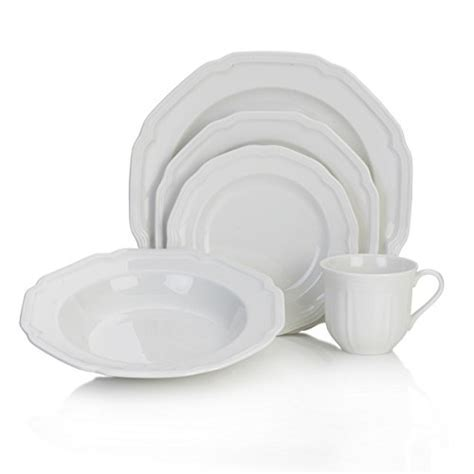 Mikasa Antique White 40 Piece Dinnerware Set, Service for