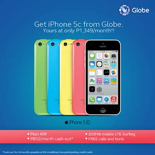 4 phone plan iphone 5c and 5s offered globe plan 499 and 999 for 24 months howtoquick net