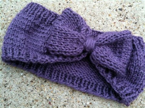 knitting loom ear warmer pattern knit bow ear warmer this in white though indiana so cold