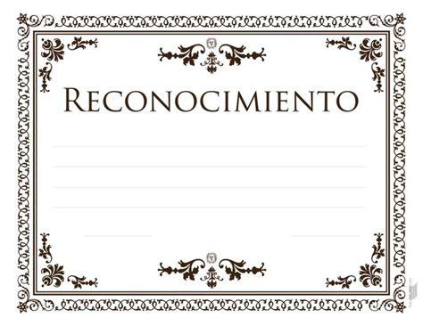 certificados de reconocimiento en blanco newhairstylesformen2014com 17 mejores ideas sobre diplomas para imprimir en pinterest