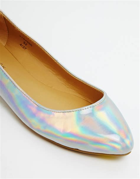 new look flat shoes new look new look koinery irredescent ballerina flat
