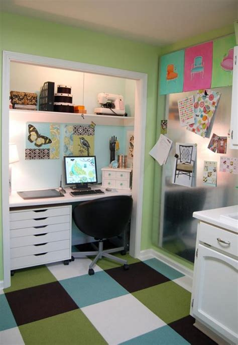 Create A Functional Home Office From A Closet Freshome Com Home Office Closet Ideas