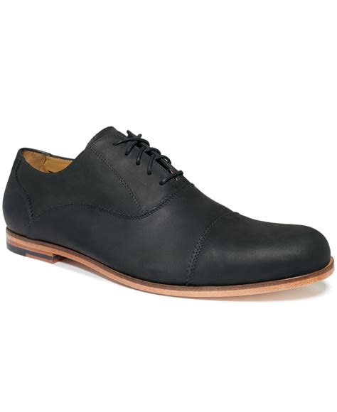 cole hann shoes cole haan edison cap toe shoes in black for lyst