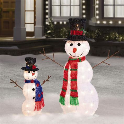 lighted snowman for outside 35 quot 21 quot tall pre lit tinsel snowman outdoor christmas
