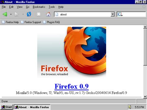 firefox visual themes a visual browser history from netscape 4 to mozilla