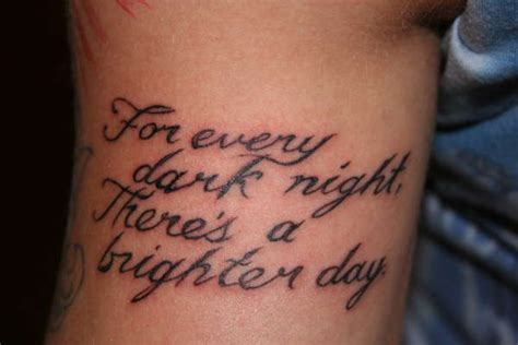 tattoos with sayings quote ideas center