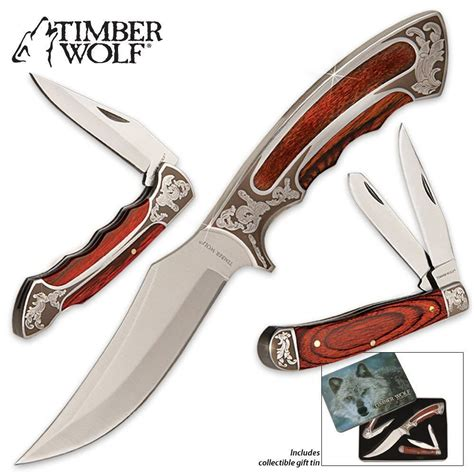 timber wolf knives timber wolf knife set with gift tin pocket knives