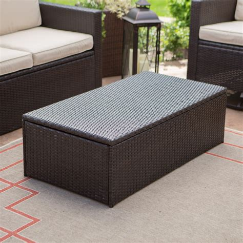 Wicker Coffee Table Storage Coffee Table Patio Coffee Table Creative Outdoor Wicker Coffee Table With Storage Outdoor