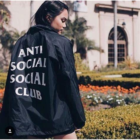 Anti Social Social Club anti social social club jacket black