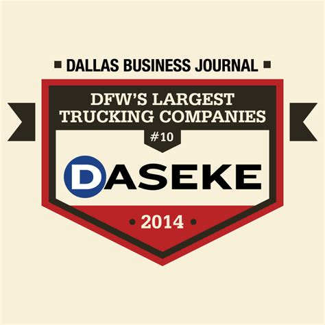 dallas entertainment journal the best of dallas daseke inc dallas business journal top 10 in dfw