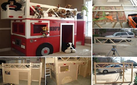 fire truck bed with slide fire engine bunk bed plans fire free engine image for