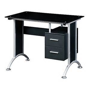 Office Depot Glass Desk Techni Mobili Glass Computer Desk Black By Office Depot Officemax