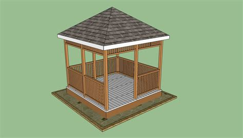 plans  wooden gazebo  woodworking