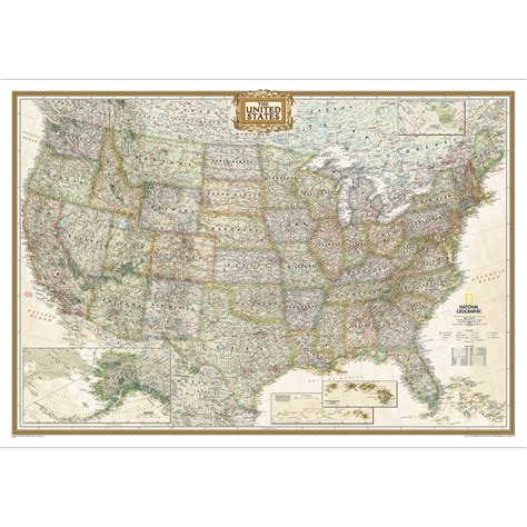 united states wall map for united states executive wall map laminated national