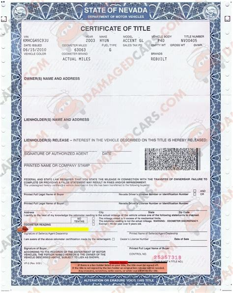 Rebuilt Car Title how to transfer a lost car title in